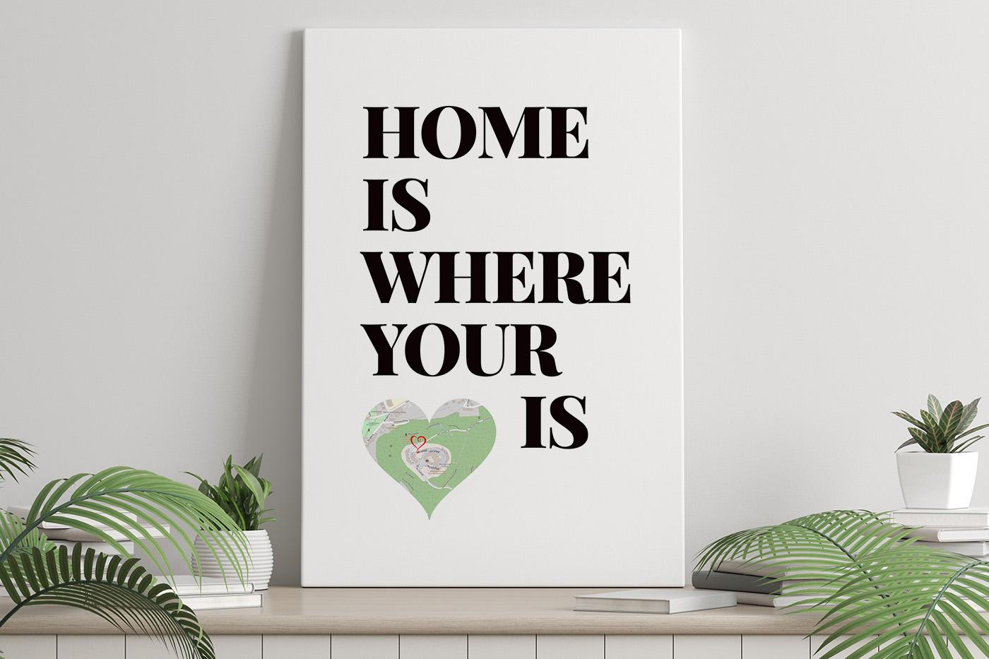 Home Is Where Your Heart Is von LoveCanvas individuelles Wandbild für die Heimatliebe